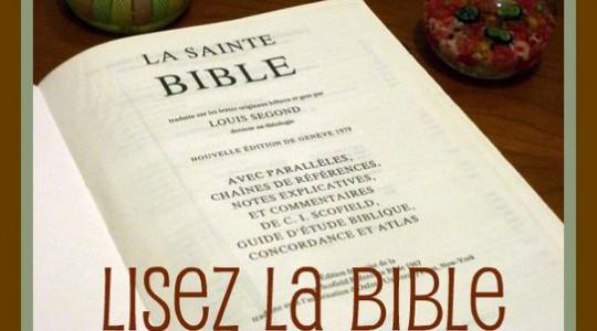 Lisez la Sainte Bible